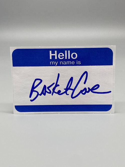 WCW Superstar Basket Case Hand Signed Name Tag (Blue) WWE Wrestling