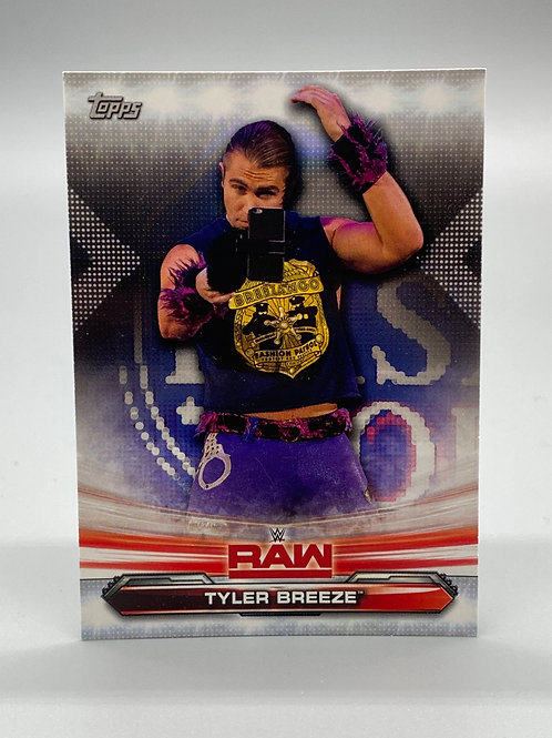 WWE Topps 2019 Raw Tyler Breeze #72 NM Wrestling Trading Cards