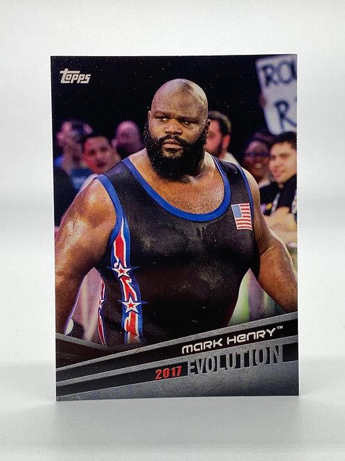 WWE Topps 2018 Evolution Mark Henry #E-34