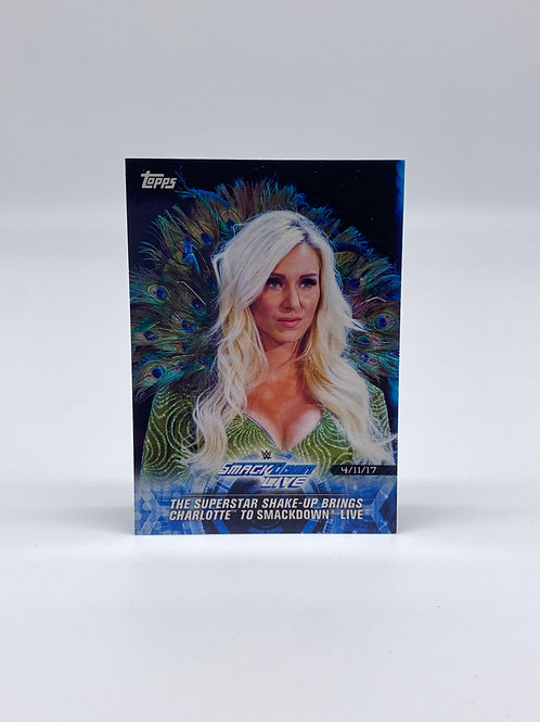 2018 Topps WWE Charlotte Flair Smackdown Live Road to Wrestelmania #84