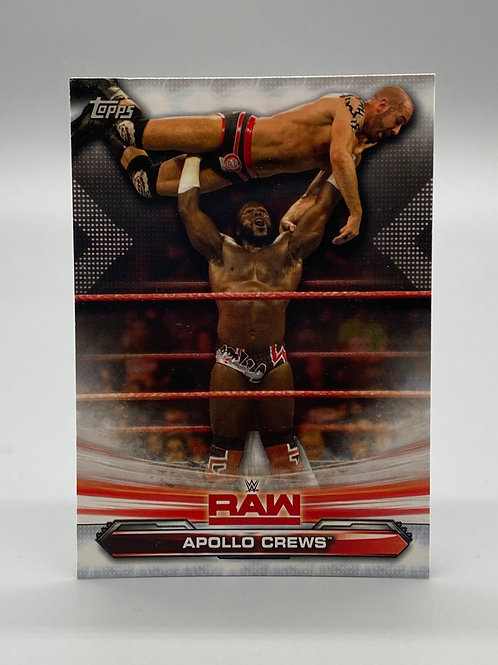 WWE Topps 2019 Raw Apollo Crews #4 NM Wrestling Trading Card
