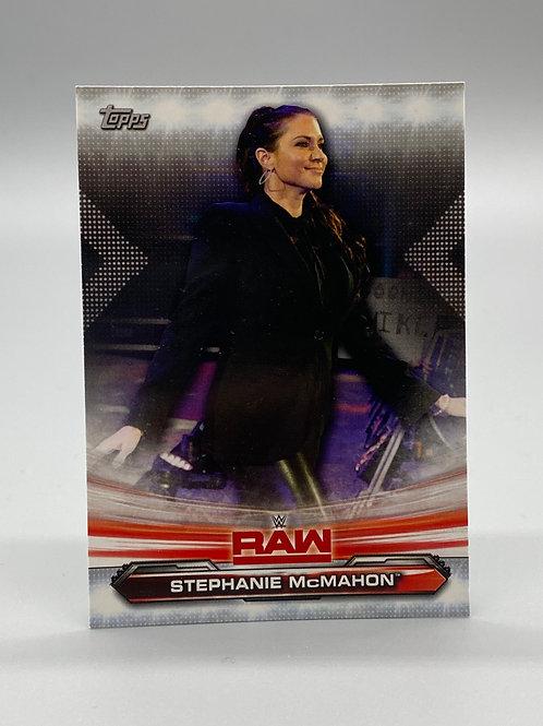 WWE Topps 2019 Raw Stephanie McMahon #69 NM Wrestling Trading Card