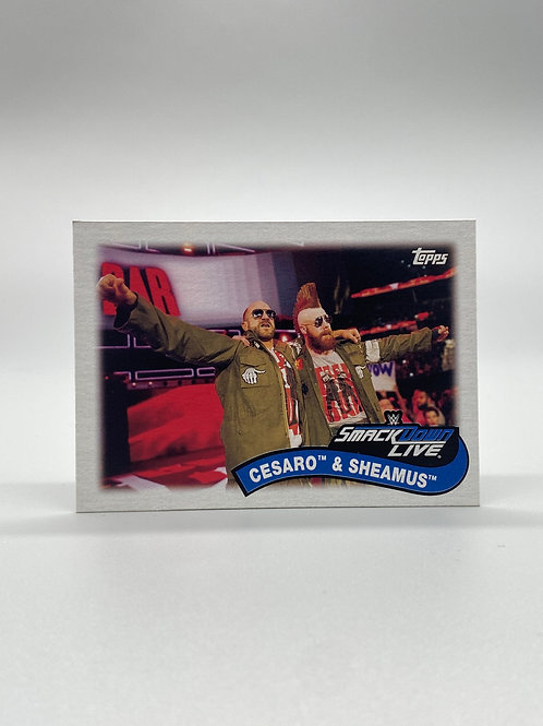WWE Topps 2018 Heritage Tag Teams and Stables Cesaro & Sheamus #TT-1