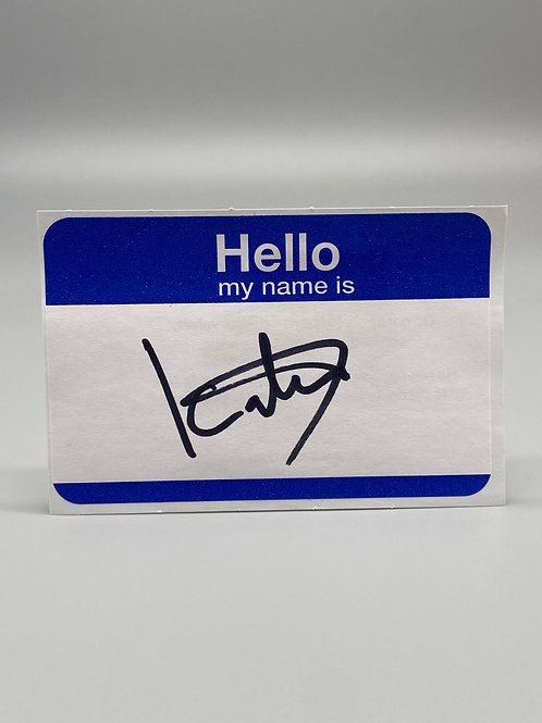 WWF Superstar Kato Hand Signed Name Tag WWE Wrestling Autograph (Black)