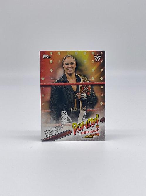 2019 Topps WWE Ronda Rousey Spotlight #37