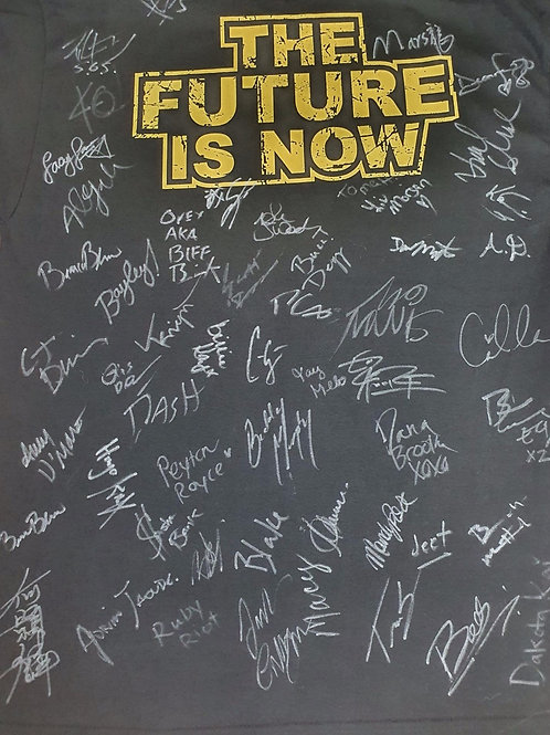 NXT 'The Future Is Now' - HAND SIGNED T-Shirt. (Signed by OVER 50 wrestlers)