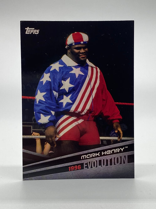 WWE Topps 2018 Evolution Mark Henry #E-32