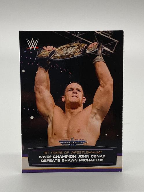 WWE Topps 2014 30 Years of Wrestlemania John Cena #46 of 60
