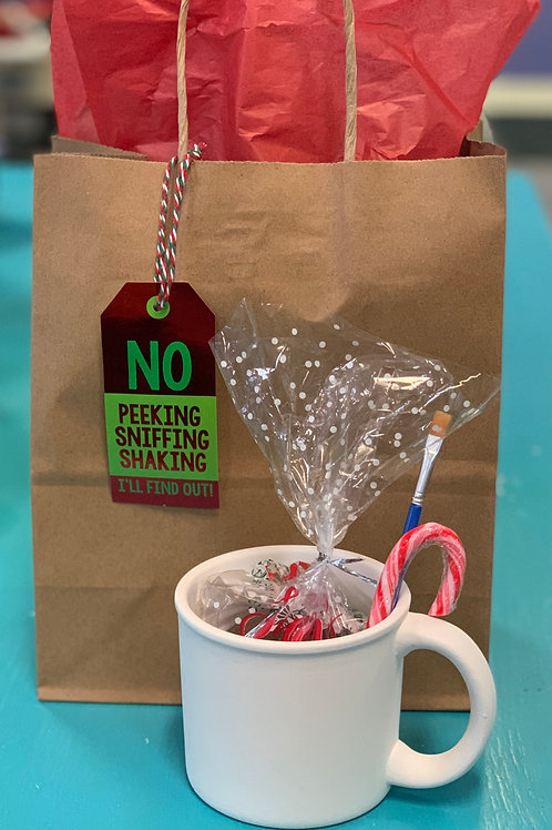 Holiday Mug Gift Bag