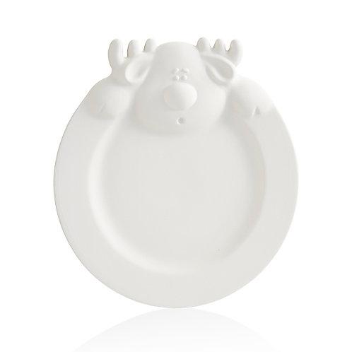 Reindeer RimmedPlate