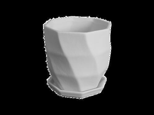 Geometric Wave Flower Pot