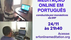 Meditação Online em Português (24/11)