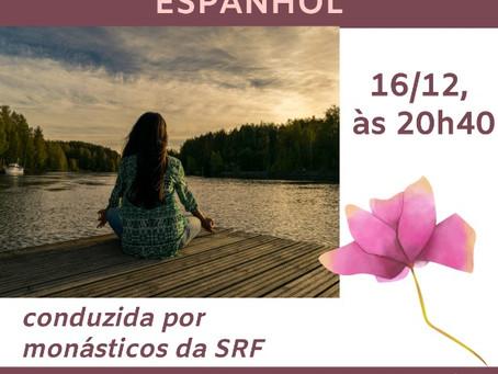 Meditação Online em Espanol (16/12), conduzida por monásticos