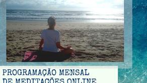 Programação Mensal de Meditações Online - Junho 2021
