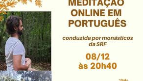 Meditação Online em Português (08/12)