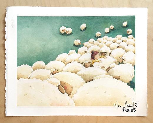 "TIRAGE FineArt ""Les moutons"" 20 exemplaires"