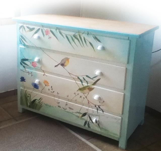 meuble peint le rossignol