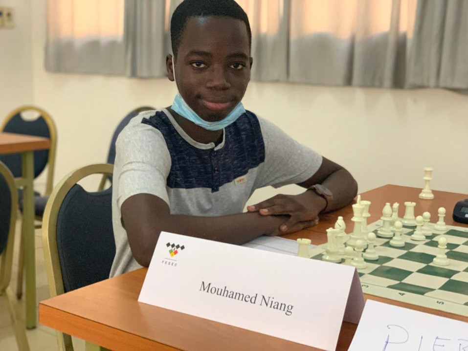 Young chess player Senegal