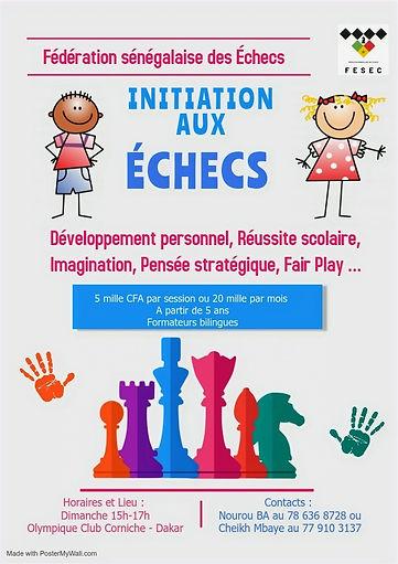 Initiation Échecs Sénégal
