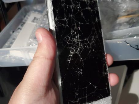 iphone8plus 重度破損 足立区