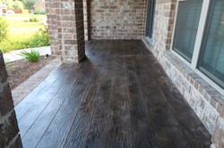 Wood look concrete overlay