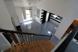 Solid gray epoxy floor