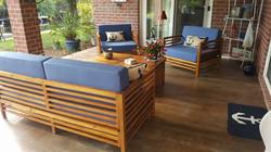 Concrete wood porch