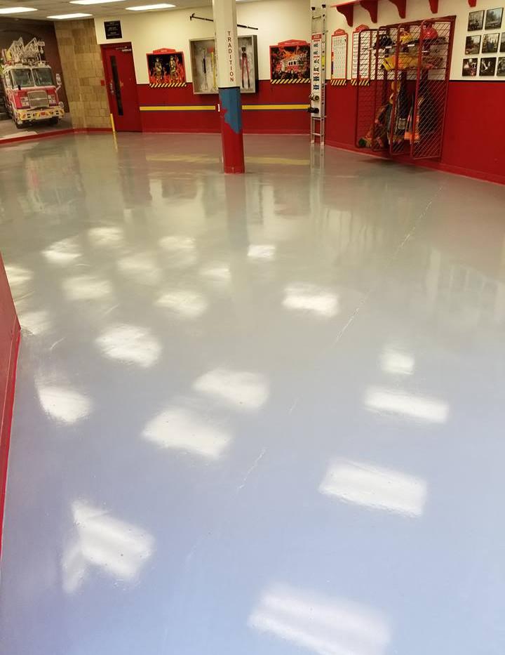 Solid Gray Epoxy Flooring