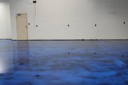Blue on Black epoxy floor