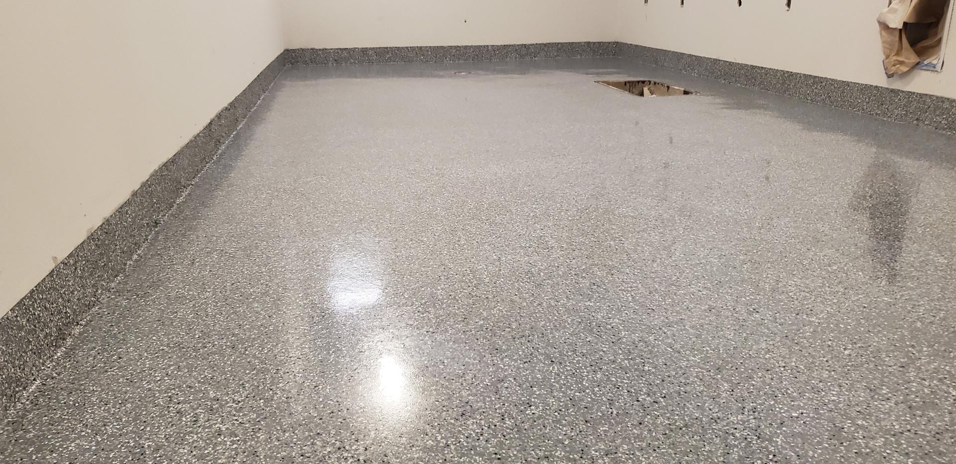 Flake flooring for senior living center