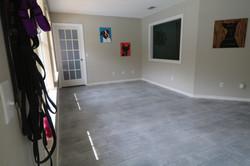 Light gray concrete wood