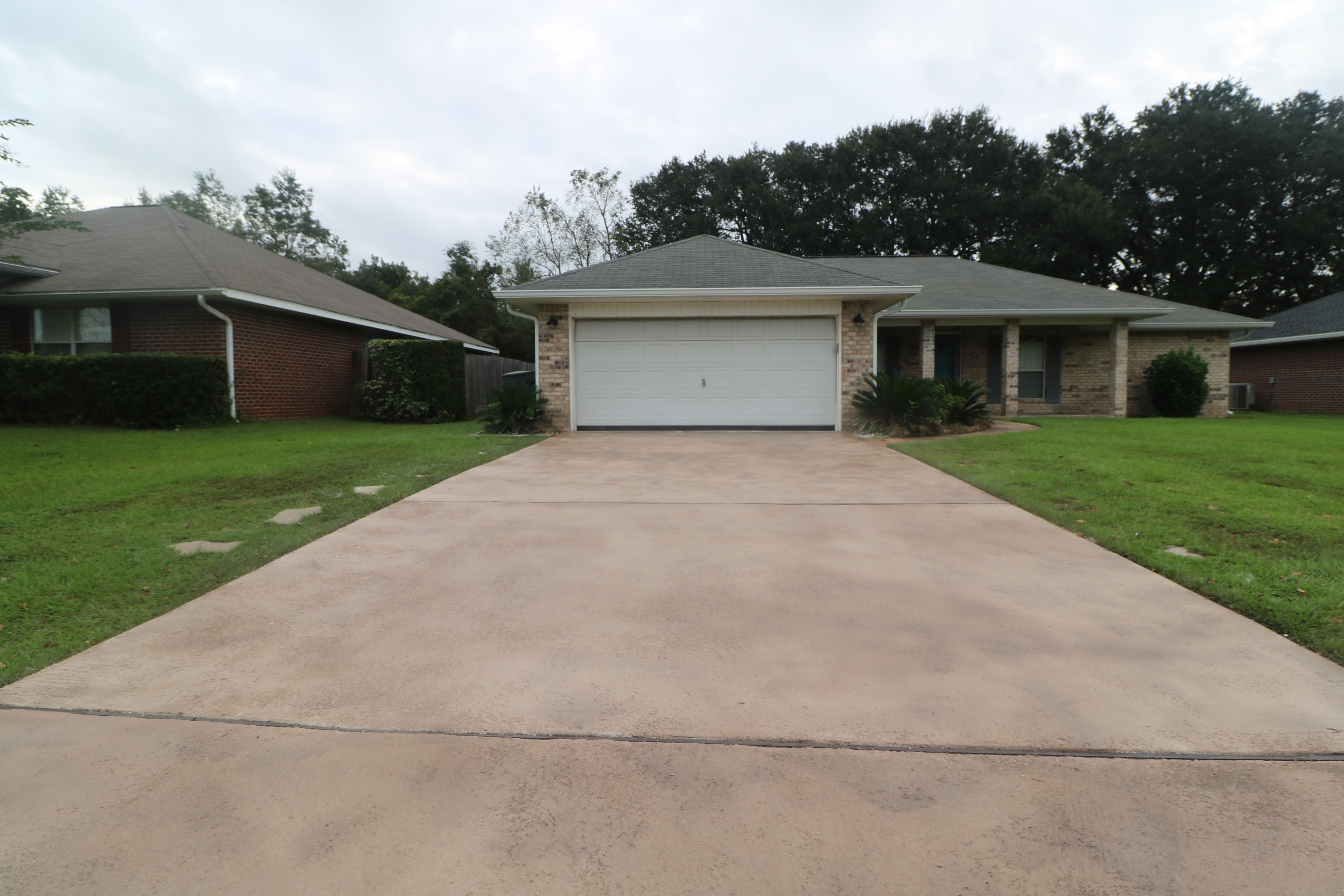 Driveway staining