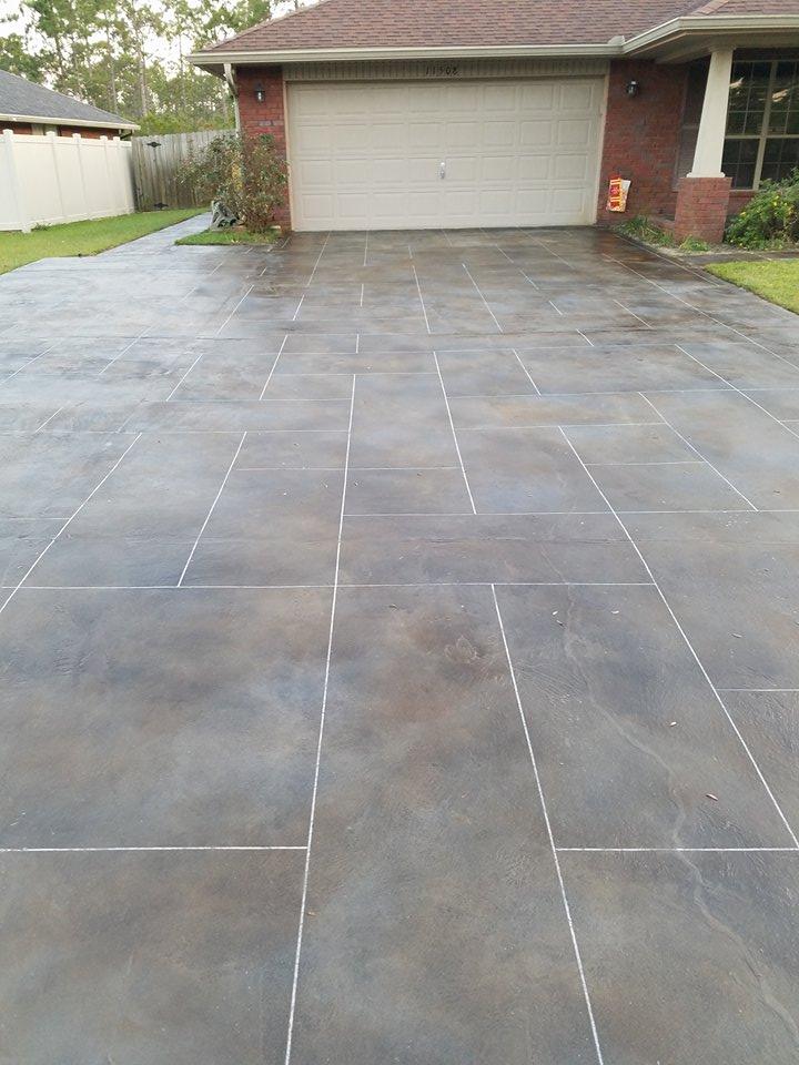 Ashlar tile overlay brown and gray
