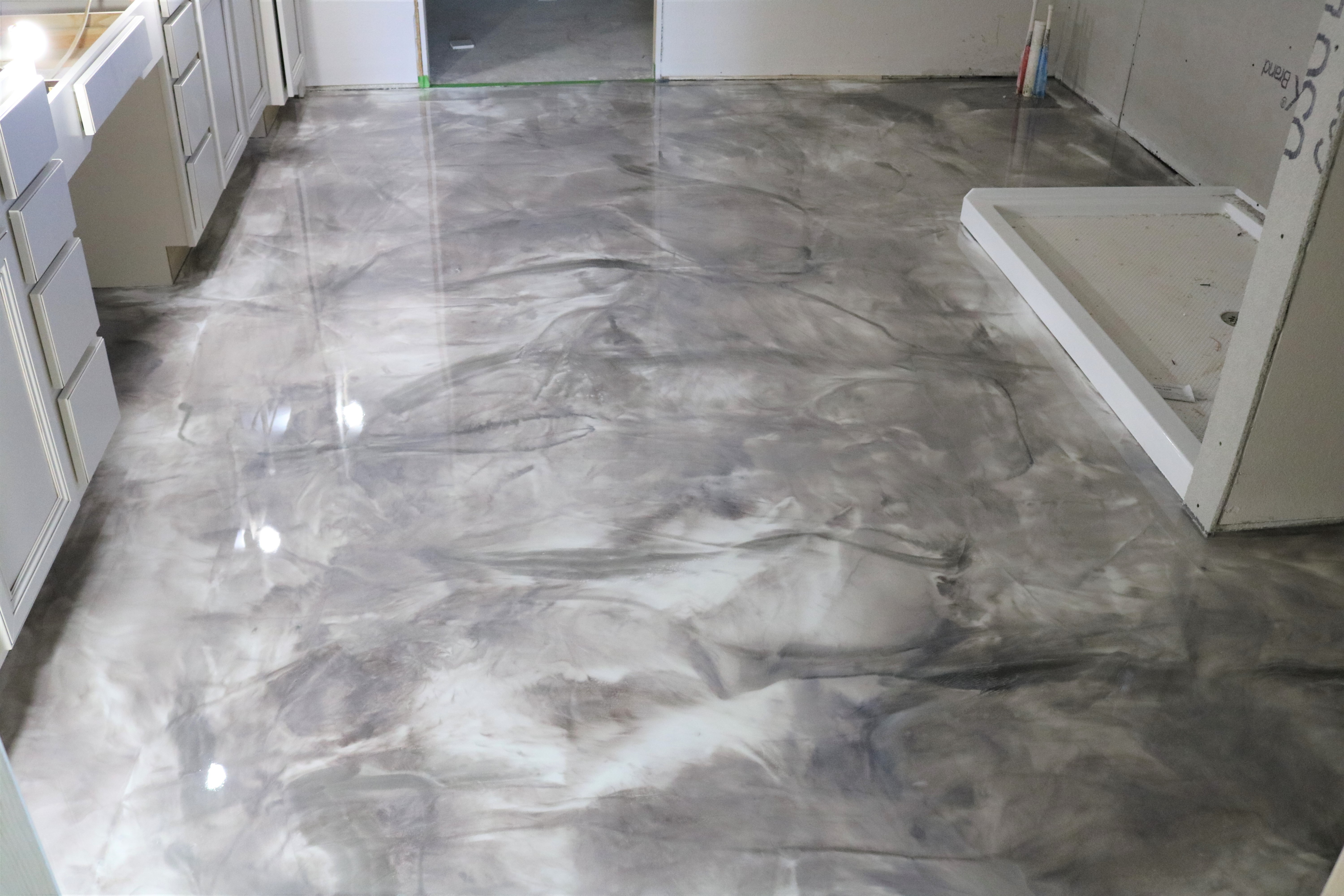 Two toned silver epoxy