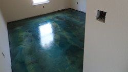 Blue and green epoxy