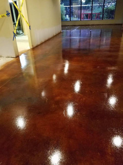 Bordeaux stain with high gloss seal