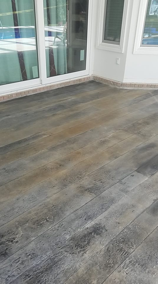 Brown and gray concrete wood