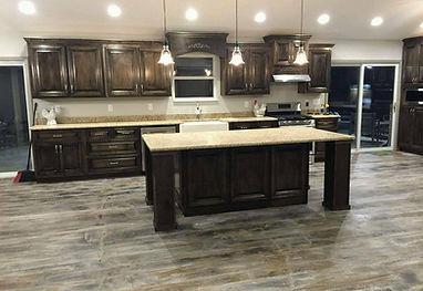Wood look concrete floor