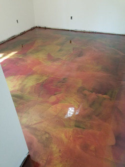 Red and yellow epoxy