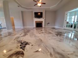 Elegant epoxy flooring