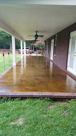 Two tone brown stain