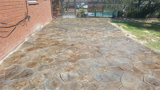 Brown and Gray Stamped Patio