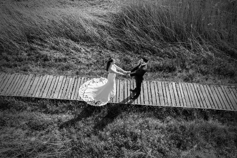 drónos esküvő fotózás