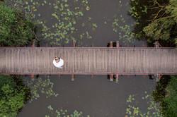 drone légi fotózás esküvőre