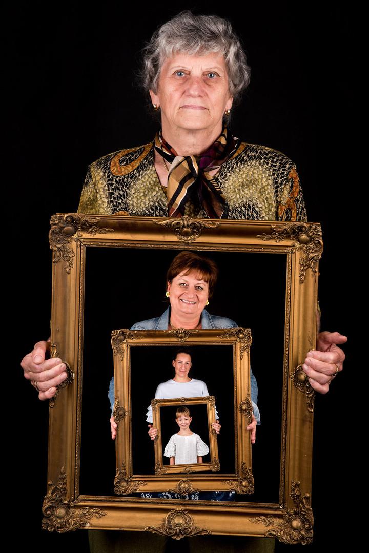 Generáció családi kép képkeret