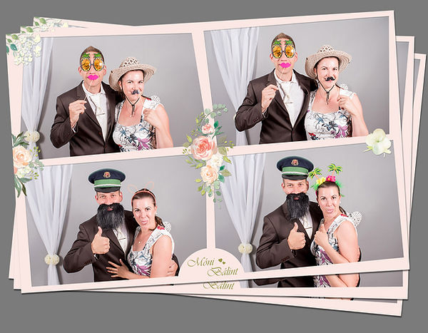 Fotosarok kollázs esküvő
