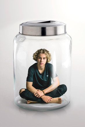 portré üvegben