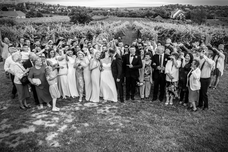 esküvői csoportkép