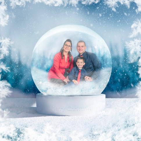 karácsonyi családi egyedi fotó
