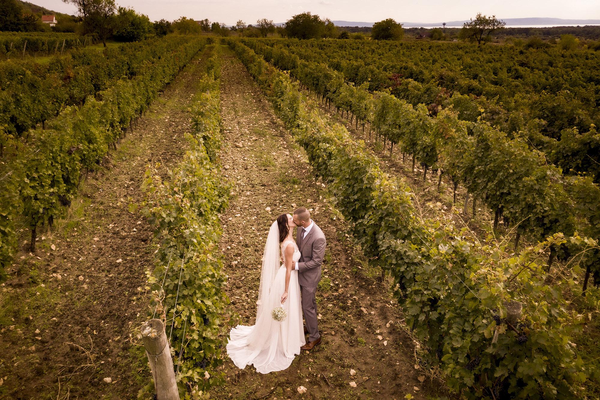 esküvőfotózás drónnal